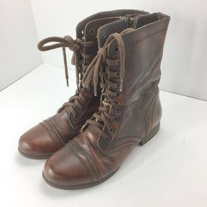 Steve Madden Troopa Boots 7.5 Brown Distressed